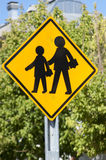 School sign. Traffic signal used to indicate school zone Royalty Free Stock Images