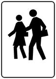 School Sign. A sign marking a children's crossing area Stock Images