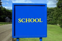 School sign Stock Images