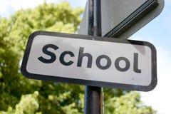 School sign Stock Photos