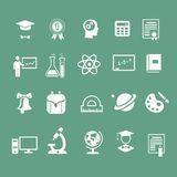 School signs, icons, vector Royalty Free Stock Image