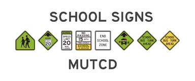 School signs Royalty Free Stock Image