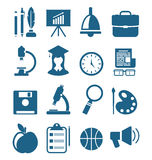 School Simple Icons Royalty Free Stock Photography