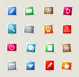 School simply icons Stock Images