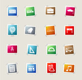 School simply icons Royalty Free Stock Image