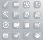 School simply icons Stock Photography