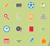 School simply icons. School simply symbol for web icons and user interface Royalty Free Stock Photos