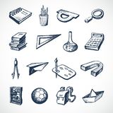 School Sketch Icons Royalty Free Stock Images