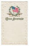 School Souvenir Postcard 1901 Stock Image