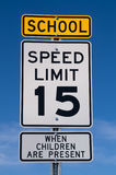 School Speed Limit Sign Royalty Free Stock Image