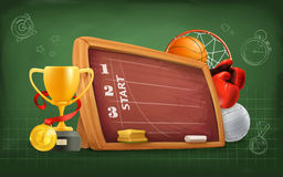 School, sports and achievement Stock Image