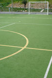 School sports field. View on the school sports field royalty free stock photography