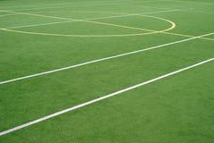 School sports field. View on the school sports field stock photo