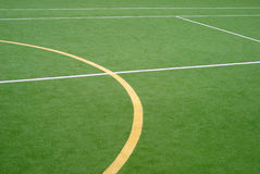 School sports field. View on the school sports field stock photography