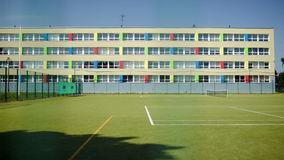 School and sports ground stock video