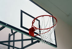 School sports hall: basketball board Stock Photo