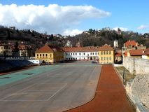 School of sports stadium in Brasov Stock Photography