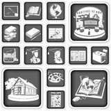 School squared icons Stock Photos