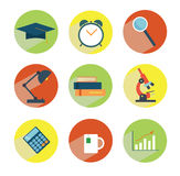 School staff icions. School and college staff style graphic icions Royalty Free Stock Photos