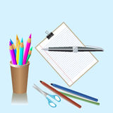 School stationaries Royalty Free Stock Photography