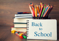 School stationary Royalty Free Stock Images
