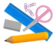 School stationery Stock Image