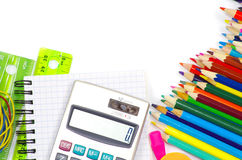 School stationery Stock Photos