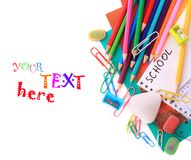 School stationery Stock Photo