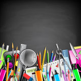 School Stationery Border Stock Photography