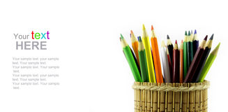School stationery with copyspace Stock Images