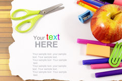 School stationery framework Royalty Free Stock Images