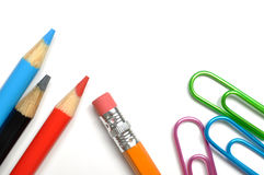 School stationery isolated Stock Images