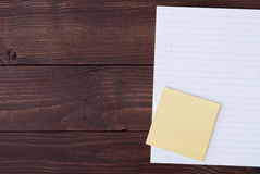 School stationery with notebook copyspace Royalty Free Stock Images