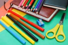 School stationery Stock Photos