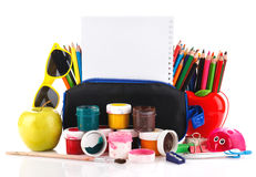 School stationery Stock Photography