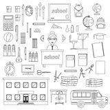 School stationery, vector set for school vector illustration