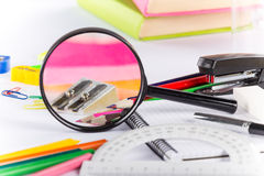 School stationery. Royalty Free Stock Images