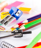School stationery. Royalty Free Stock Photo