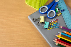 School stationery Stock Images
