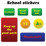 School stickers stock illustration
