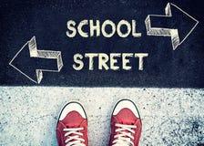 School of straat stock afbeelding