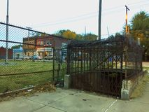 School street underground entrance 01 stock images