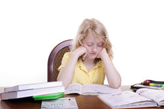 School stress. A girl stands under school stress Stock Images