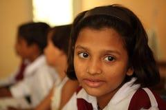 School Student. School girl sitting in class. Karachi, Pakistan Stock Image