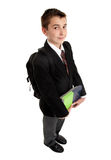 School student with books and backpack Stock Image