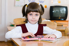 School Student at the class - Education concept. Back to school stock photo