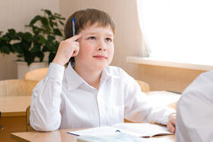 School Student at the class - Education concept. Back to school royalty free stock photos
