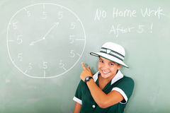 School student clock Stock Images