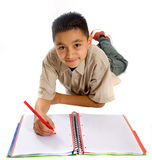 School student doing his homew Royalty Free Stock Photography