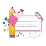 School student label Royalty Free Stock Photo